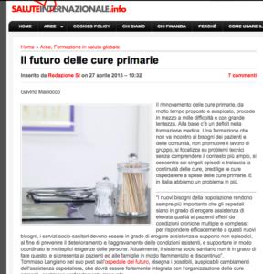 Book Cover: Il futuro delle cure primarie
