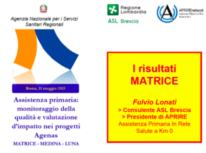 Book Cover: Progetto MATRICE-AGENAS per monitorare PDTA
