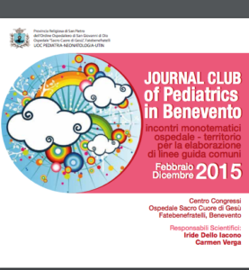 Book Cover: PDT pediatrici - Journal Club of Pediatrics in Benevento