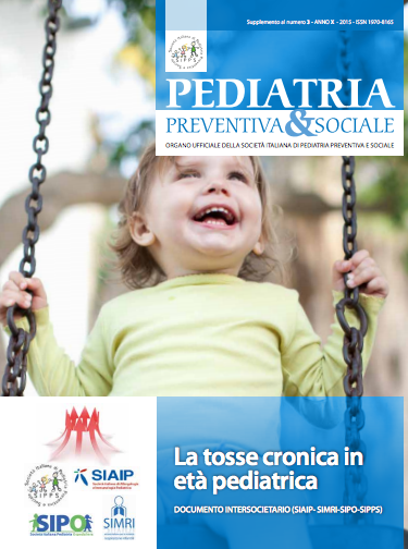 Book Cover: Tosse cronica in età pediatrica