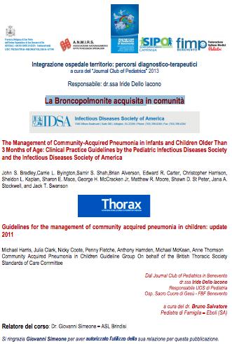 Book Cover: Broncopolmonite in età pediatrica