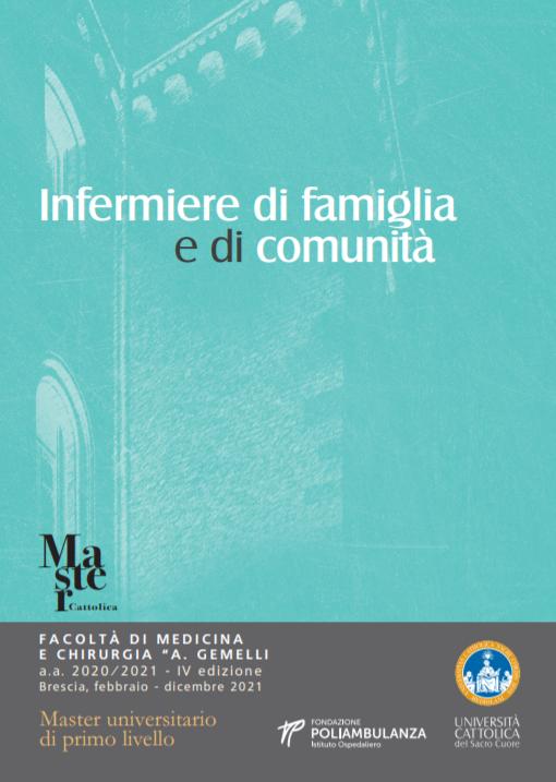 """Book Cover: Master """"Infermiere di Famiglia e di Comunità"""" dell'Università Cattolica a Brescia"""