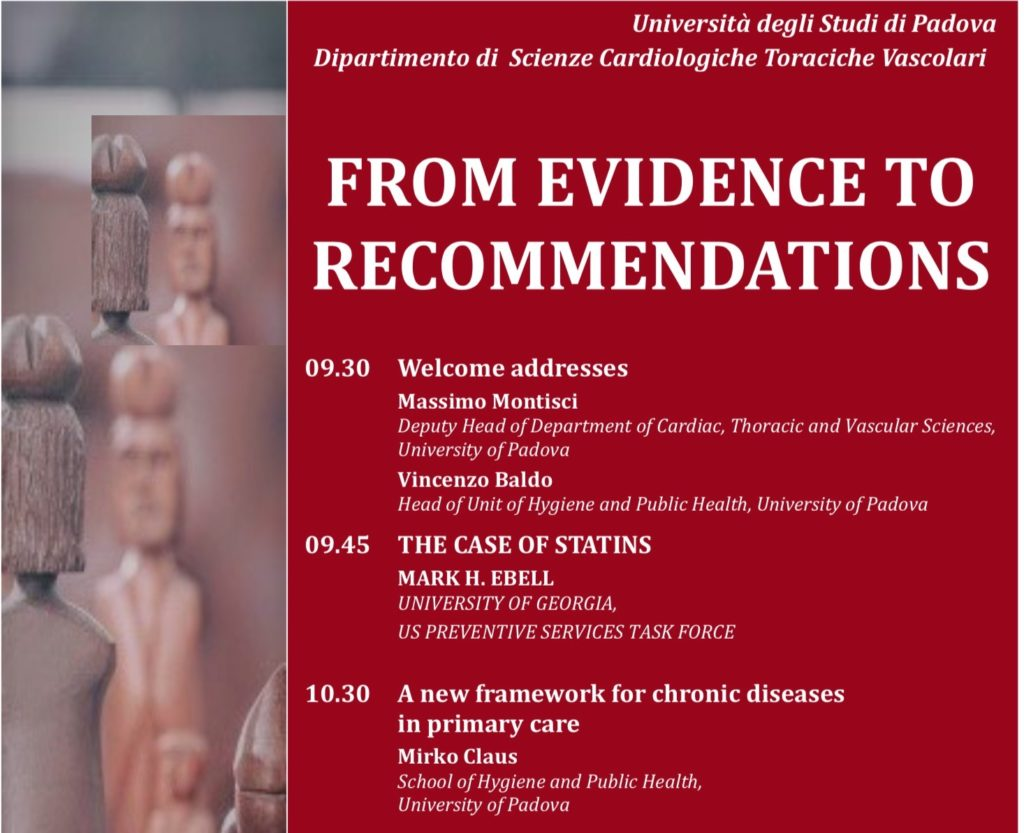 Book Cover: From evidence to recommendations