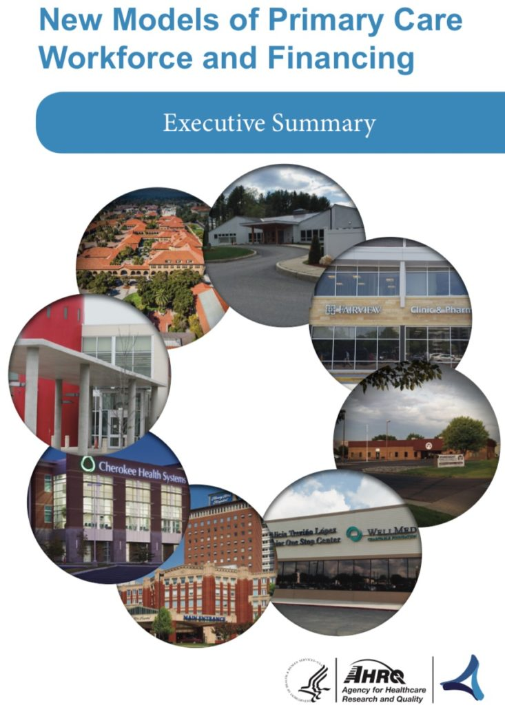 Book Cover: AHRQ New Models of Primary Care Workforce and Financing