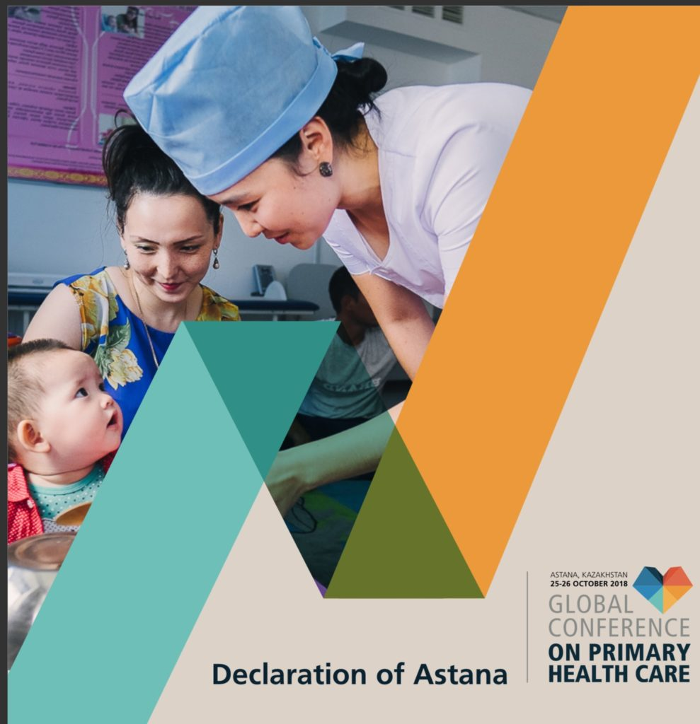 Book Cover: Astana 2018: Global Conference on Primary Health Care