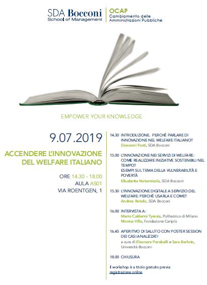 Book Cover: Osservatorio OCAP - Accendere l'innovazione del welfare italiano