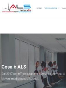 Book Cover: ALS Fattore 2a: per supportare i giovani medici
