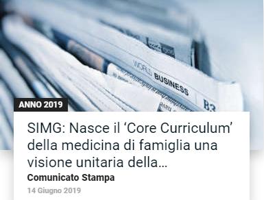 Book Cover: - SIMG: Nasce il 'Core Curriculum' della medicina di famiglia -
