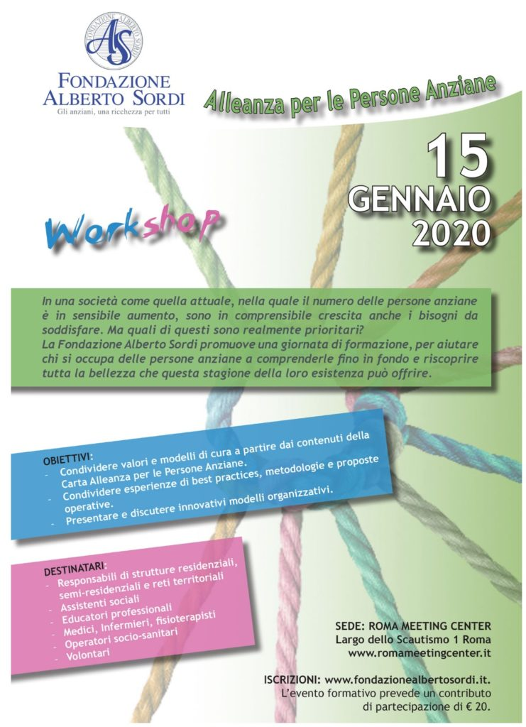 Book Cover: Workshop Alleanza per le Persone Anziane