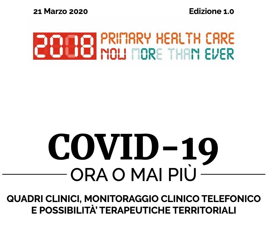 Book Cover: COVID-19 Quadri clinici, monitoraggio telefonico e terapie territoriali