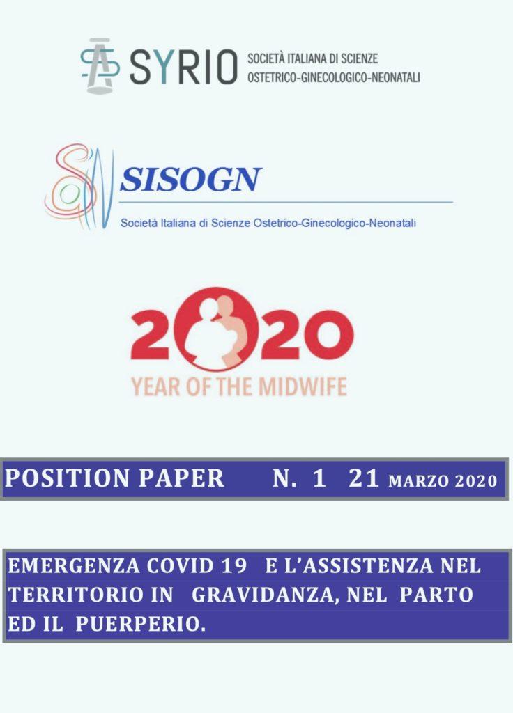 Book Cover: Emergenza COVID 19 - Gravidanza,  Parto, Puerperio: Assistenza nel Territorio