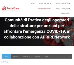 Book Cover: COVID19: APRIRE e Tech4care insieme per le RSA