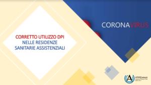 Book Cover: CORONAVIRUS - Corretto utilizzo DPI nelle Residenze Sanitarie Assistenziali
