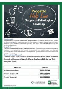 Book Cover: Help line: supporto psicologico COVID-19