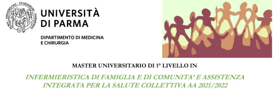 Book Cover: Master I livello in INFERMIERISTICA DI FAMIGLIA E DI COMUNITA' E ASSISTENZA  INTEGRATA PER LA SALUTE COLLETTIVA - Università di Parma