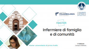 Book Cover: Master di I livello in Infermieri di Famiglia e di Comunità - Università Cattolica sede di Brescia